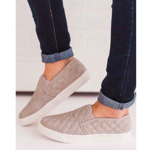 Qupid | Quilted Gray Sneakers